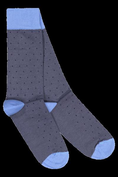 Socks-Light-blue-Grey-dots_HFront